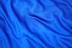 Tissu bleu Photos libres de droits