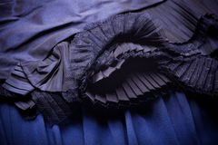 Tissu bleu avec l'ornement Photos libres de droits