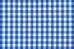 Tissu bleu détaillé de pique-nique Photos libres de droits