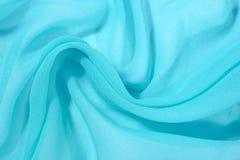 Tissu bleu d'échine de crêpe De Photos stock