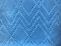 Tissu bleu de modèle carré dans le plein cadre Photo libre de droits