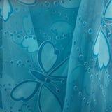 Tissu bleu de papillon Photographie stock