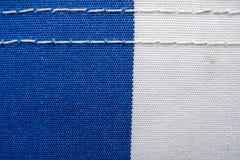 Tissu bleu et blanc images libres de droits