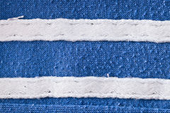 Tissu bleu et blanc Photographie stock