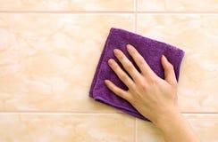 Tissu bleu-foncé Image stock