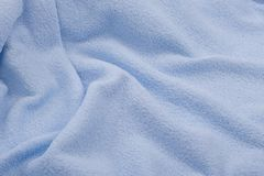 Tissu bleu, serviette images stock