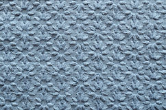 Tissu brodé de bleu Photo libre de droits