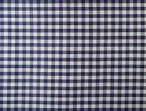 Tissu checkered bleu-foncé Photos libres de droits