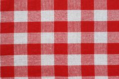 Tissu classique de pique-nique Photo libre de droits