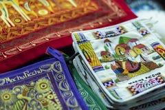 Tissu coloré au marché au Pérou, Amérique du Sud photo libre de droits