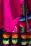 Tissu coloré au marché au Pérou, Amérique du Sud image stock