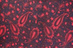 Tissu coloré avec le modèle de Paisley d'en haut Images libres de droits