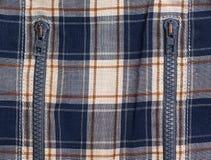 Tissu contrôlé avec des tirettes Photo stock
