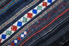 Tissu d'applique de batik d'indigo photographie stock