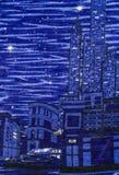 Tissu d'impression de ville Photos libres de droits