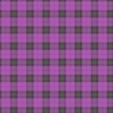 Tissu dans le rose et le tartan sans couture de modèle de fibre lilas et gpay EPS10 Images stock