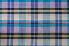 Tissu de coton de plaid de fond coloré et de texture abstraite Photos libres de droits