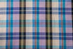Tissu de coton de plaid de fond coloré et de texture abstraite Images stock
