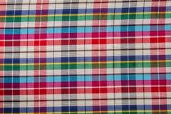 Tissu de coton de plaid de fond coloré et de texture abstraite Photographie stock libre de droits