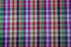 Tissu de coton de plaid de fond coloré et de texture abstraite Image libre de droits