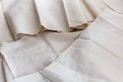 Tissu de coton naturel blanc Photos libres de droits