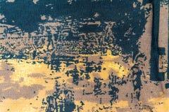 Tissu de coton noir et brun d'abstraction pour le fond Images stock