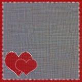 Tissu de couture de coeur. Photographie stock libre de droits