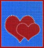 Tissu de couture de coeur. Photos libres de droits