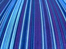 Tissu de cru de Stripey Photos stock