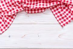 tissu de cuisine (serviette) sur le fond en bois images stock