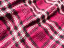 Tissu de flanelle avec les rayures rouges et noires et blanches image libre de droits