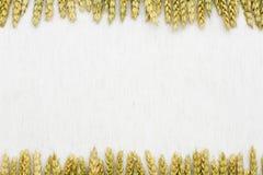 Tissu de fond naturel, de blé et de toile Photos libres de droits