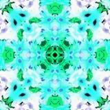 Tissu de kaléidoscope de batik peint Photos stock