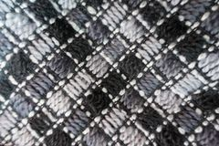 Tissu de laine avec les points diagonaux Photographie stock libre de droits