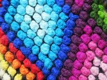 Tissu de laine fabriqué à la main péruvien image stock