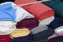 Tissu de laine de Rolls Image libre de droits
