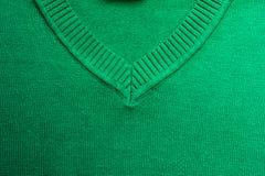 Tissu de laine tricoté par émeraude, plan rapproché Image libre de droits