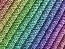 Tissu de laines d'arc-en-ciel Photos stock