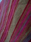 Tissu de lin coloré image libre de droits
