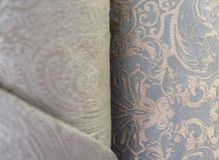 Tissu de meubles dans un petit pain jacquard photos stock