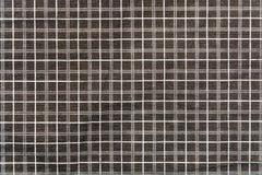 Tissu de noir de coton de plaid avec les rayures blanches et grises Photographie stock libre de droits