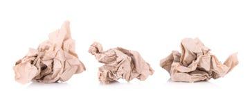 tissu de papier brun d'isolement sur le fond blanc Photo libre de droits