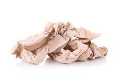 tissu de papier brun d'isolement sur le fond blanc Image libre de droits