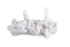 tissu de papier vissé utilisé d'isolement sur le fond blanc Photo stock
