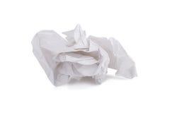 tissu de papier vissé utilisé d'isolement sur le fond blanc Images stock