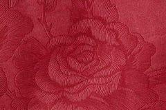 Tissu de Rose rouge Photographie stock