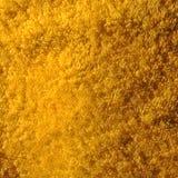 Tissu de Terry jaune Image libre de droits