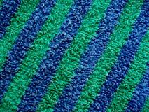 Tissu de Terry rayé bleu et vert image libre de droits