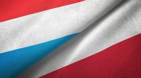 Tissu de textile de drapeaux du luxembourgeois et de la Pologne deux, texture de tissu illustration de vecteur
