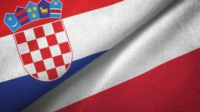 Tissu de textile de drapeaux de la Croatie et de la Pologne deux, texture de tissu illustration de vecteur